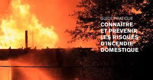 Comment prévenir un incendie domestique?